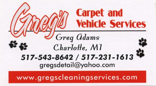 Greg's Carpet and Vehicle Services